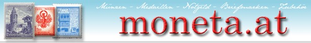 Briefmarken Shop - Numismatik moneta.at-Logo